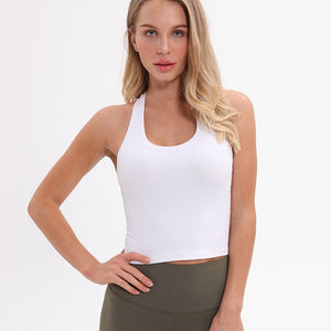 Nylon Sport Crop Tops Women Soft material