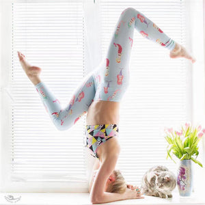 Funny Strawberry Printed Athletic Yoga Leggings