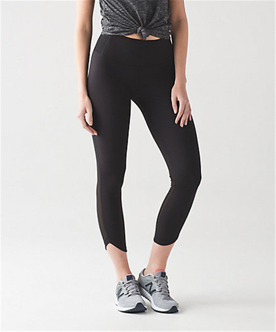 Yoga leggings with pocket compression Capris