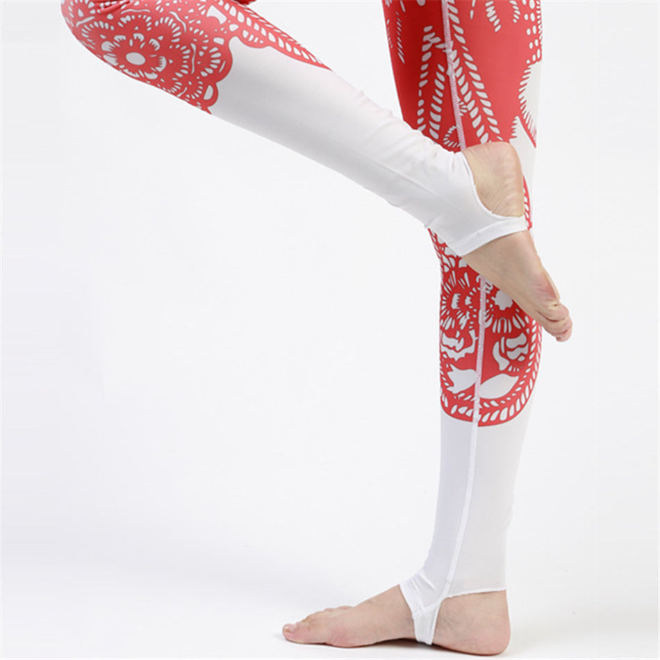 Monkey King Chinese Papercuts Printed Yoga Pant or Leggings