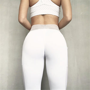 Unique high waist sport leggings with side pocket
