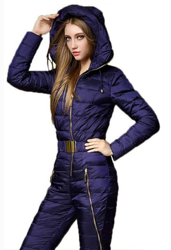 One Piece Ski Suit Women Jumpsuit Tracksuit Snowboard Coat