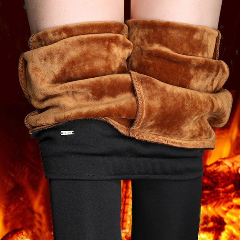 Winter Leggings Women - Plus Size High Waist Stretch Thick Leggings