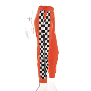 Attractive workout pants with checker design