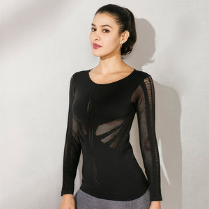 Women Mesh Yoga Top