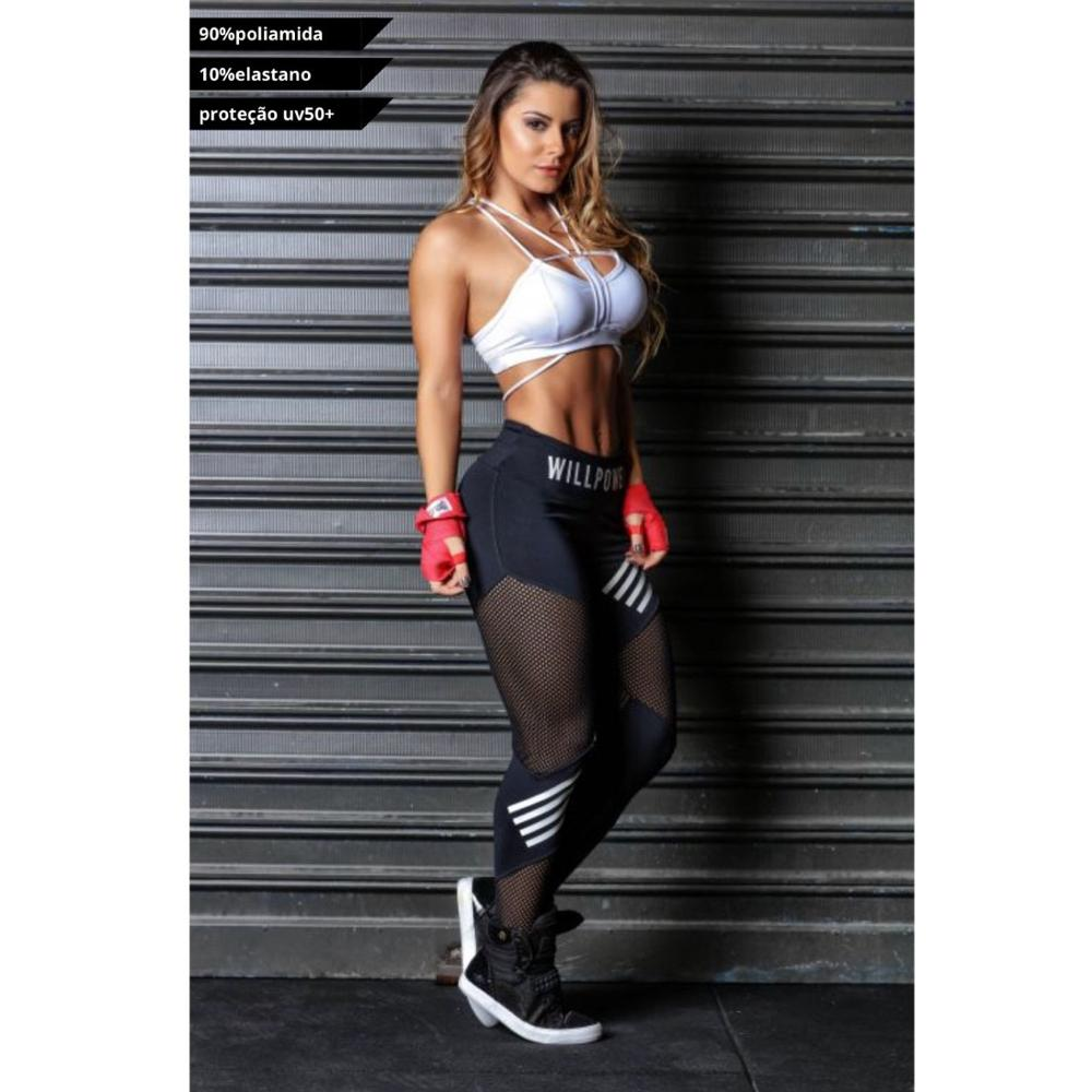 Women Leggings High Waist Mesh  Sports leggings - Plus Size Black Gym Fitness