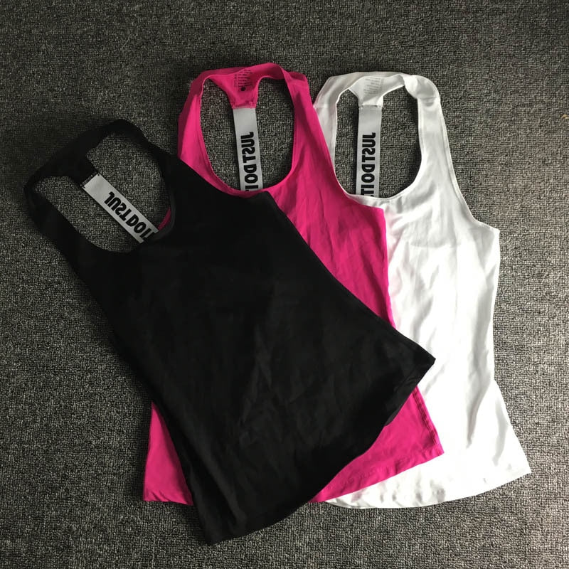 """JUST DO IT"" Gym Work Out Yoga Top"