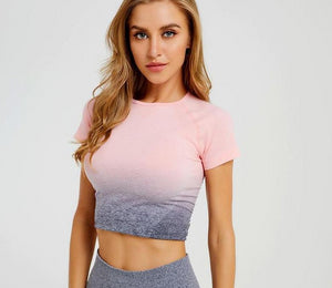women's yoga crop top
