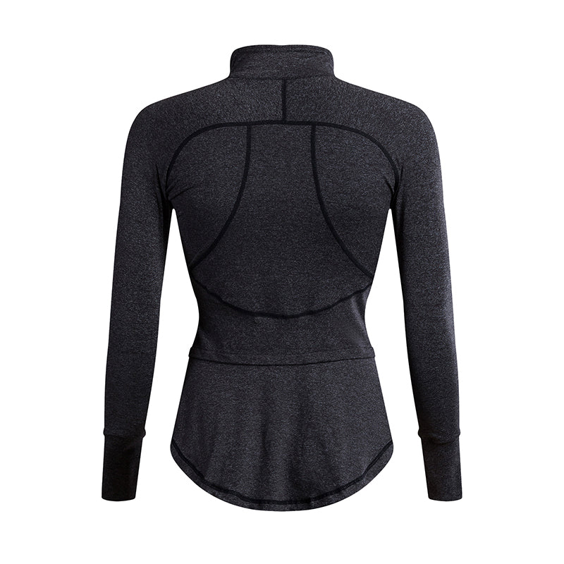 Women Autumn Winter Sports Sweatshirts Zipper Running Jacket