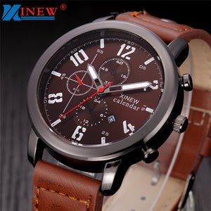 Best Quality Leather Military Style Sports Watch for men or Women