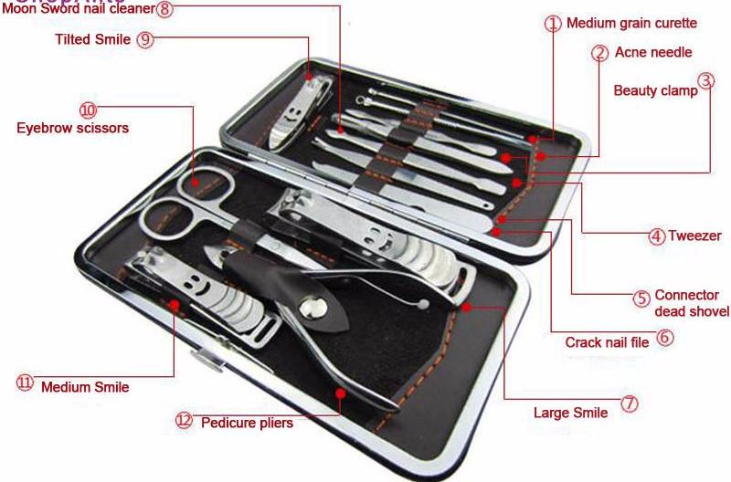 12 Piece Nail Art Manicure Tools Set