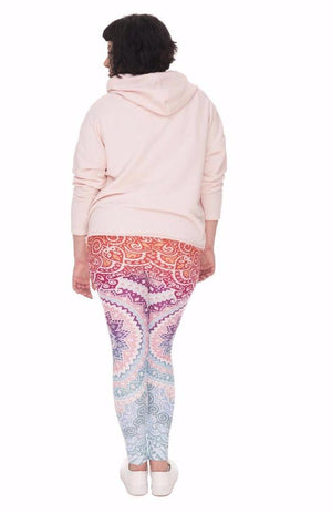 Plus Size Women Leggings -Colorful Pattern