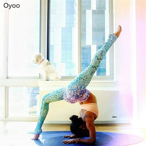 High Quality Two Tone Star Dots Dazzle Purple Blue Ombre Mermaid Yoga leggings