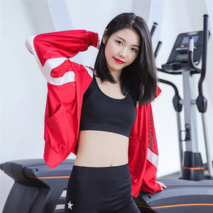 Women's Running Jackets New Long Sleeve Running Jacket Yoga Gym Fitness