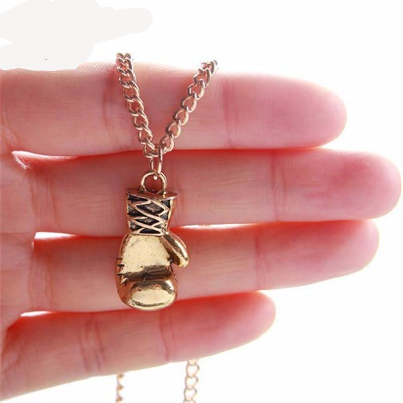 1pc Gold & Silver Men & Women's Necklace Women Jewelry - Boxing Glove Pendant