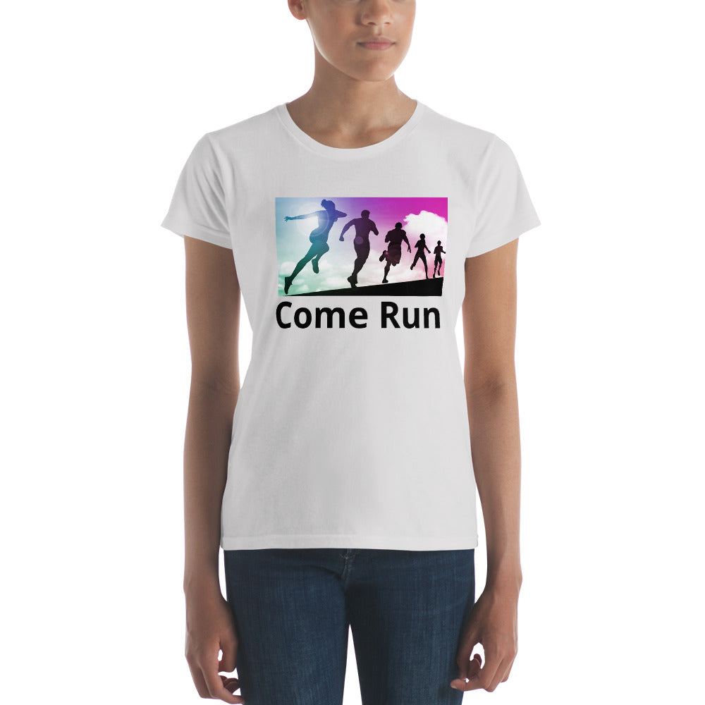 Come Run With Me-Women's short sleeve t-shirt