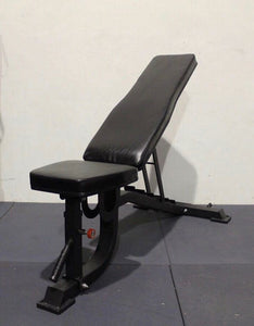 Adjustable weight bench (BLACK) (free delivery)   (Stock due in May)