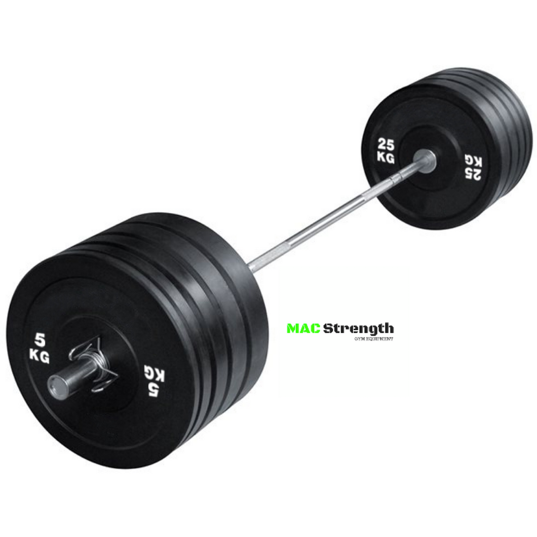 100kg pack + Olympic barbell + spring clips (Stock due in March)