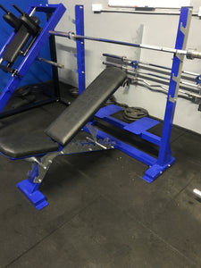 Commercial adjustable bench press