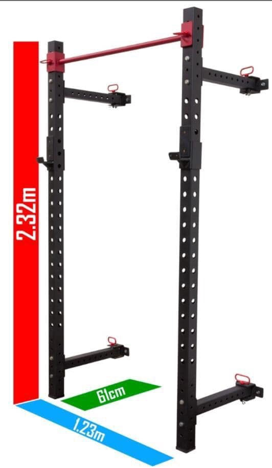 Foldable squat rack   (Stock due in March)