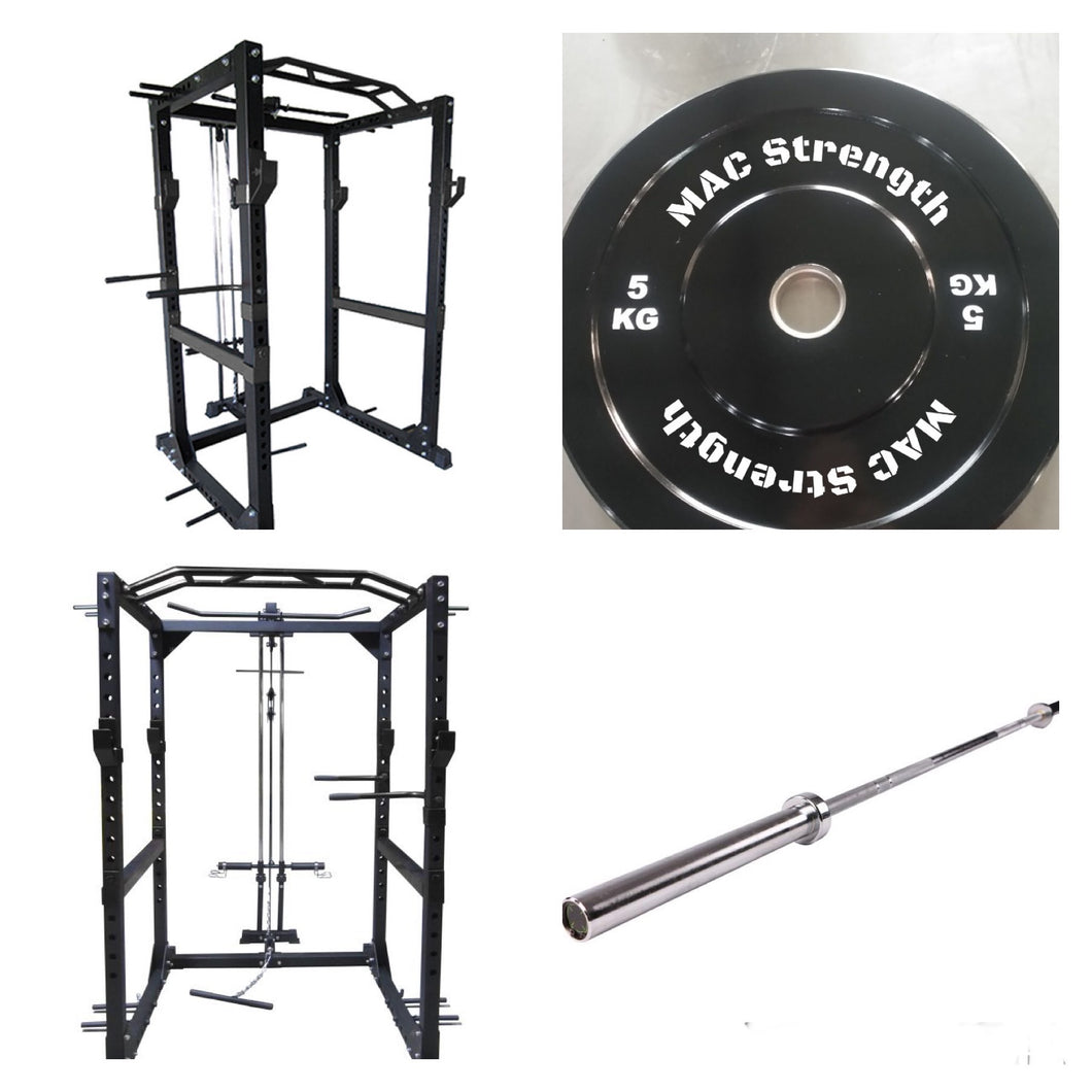 Power rack + cable pulley package with 100kg pack (Pre order- Orders despatched w/c 8th March)