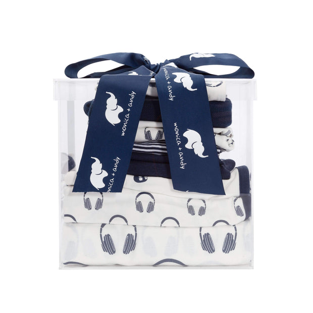Monica + Andy:Modern Layette,The Blue Classic Modern Layette Cuddle Box