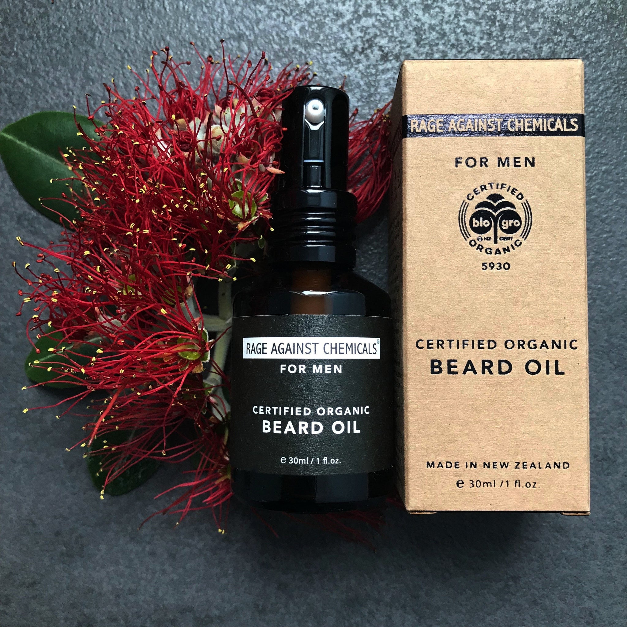 Beard Oil - Certified Organic - Rage Against Chemicals