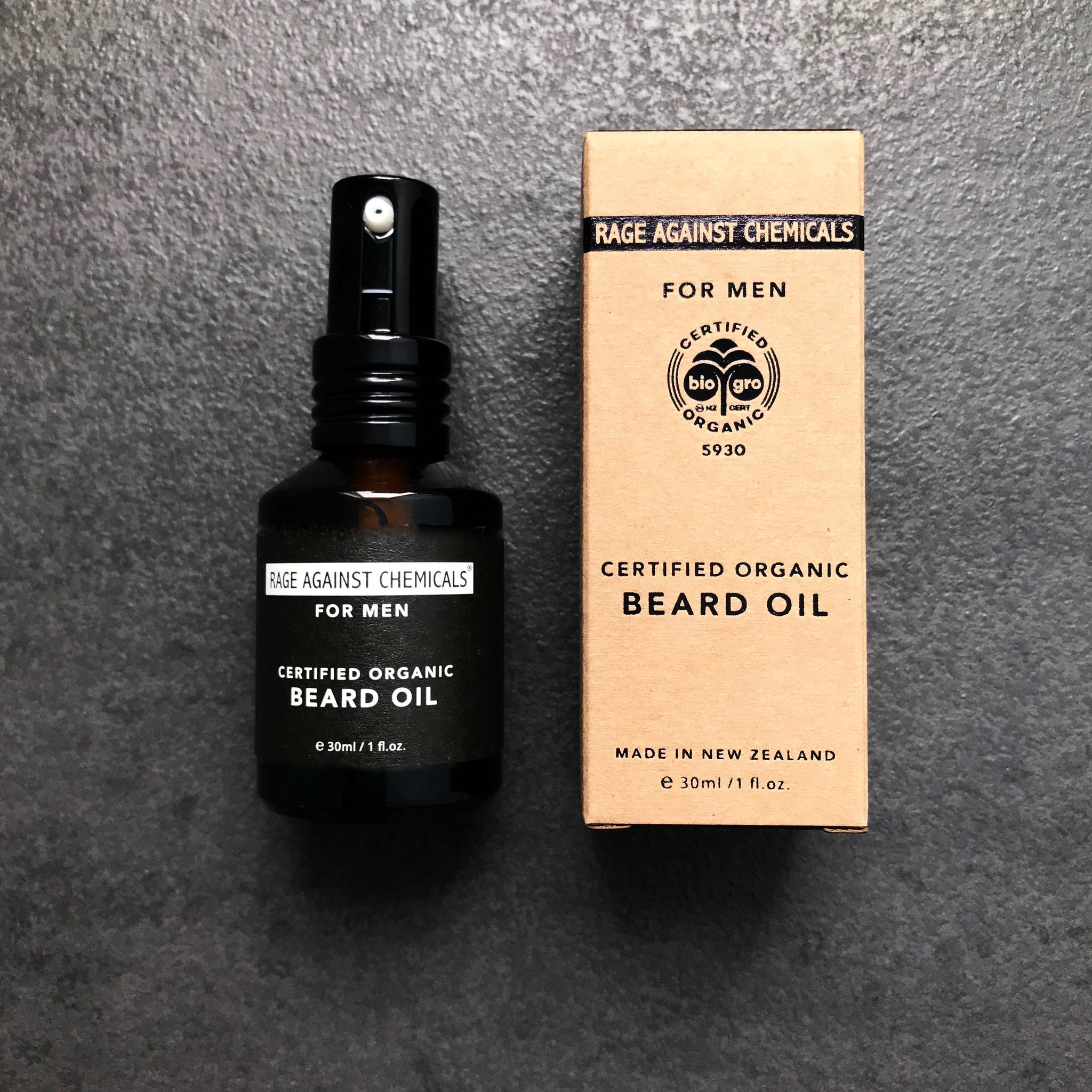 Beard Oil - Certified Organic - Rage Against Chemicals - Includes Beard soap and comb.