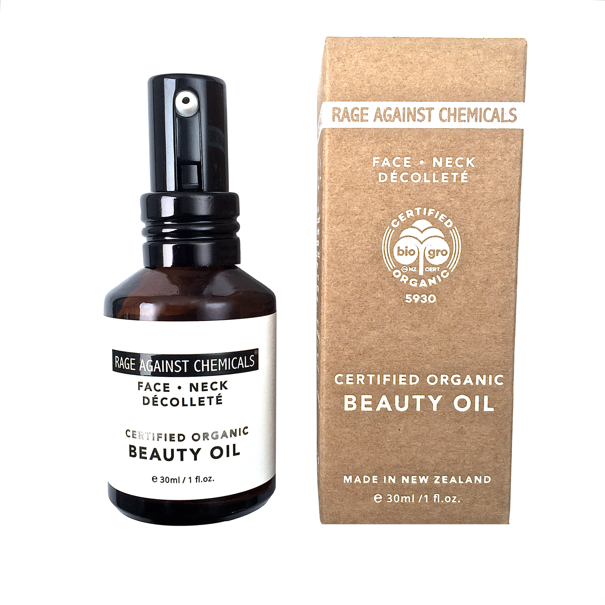 Beauty Oil - Organic - Rage Against Chemicals - Certified Organic