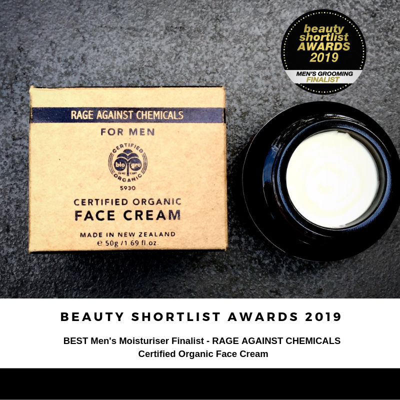 Face Cream for Men - Organic Moisturiser - Rage Against Chemicals - International Award Winning - Certified Organic by Biogronz