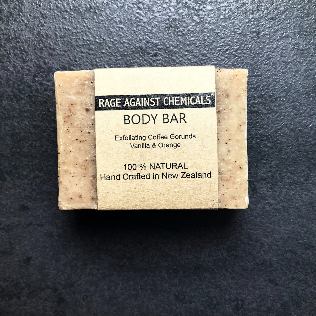 Soap - Body Exfoliating -  Coffee & Orange 100g