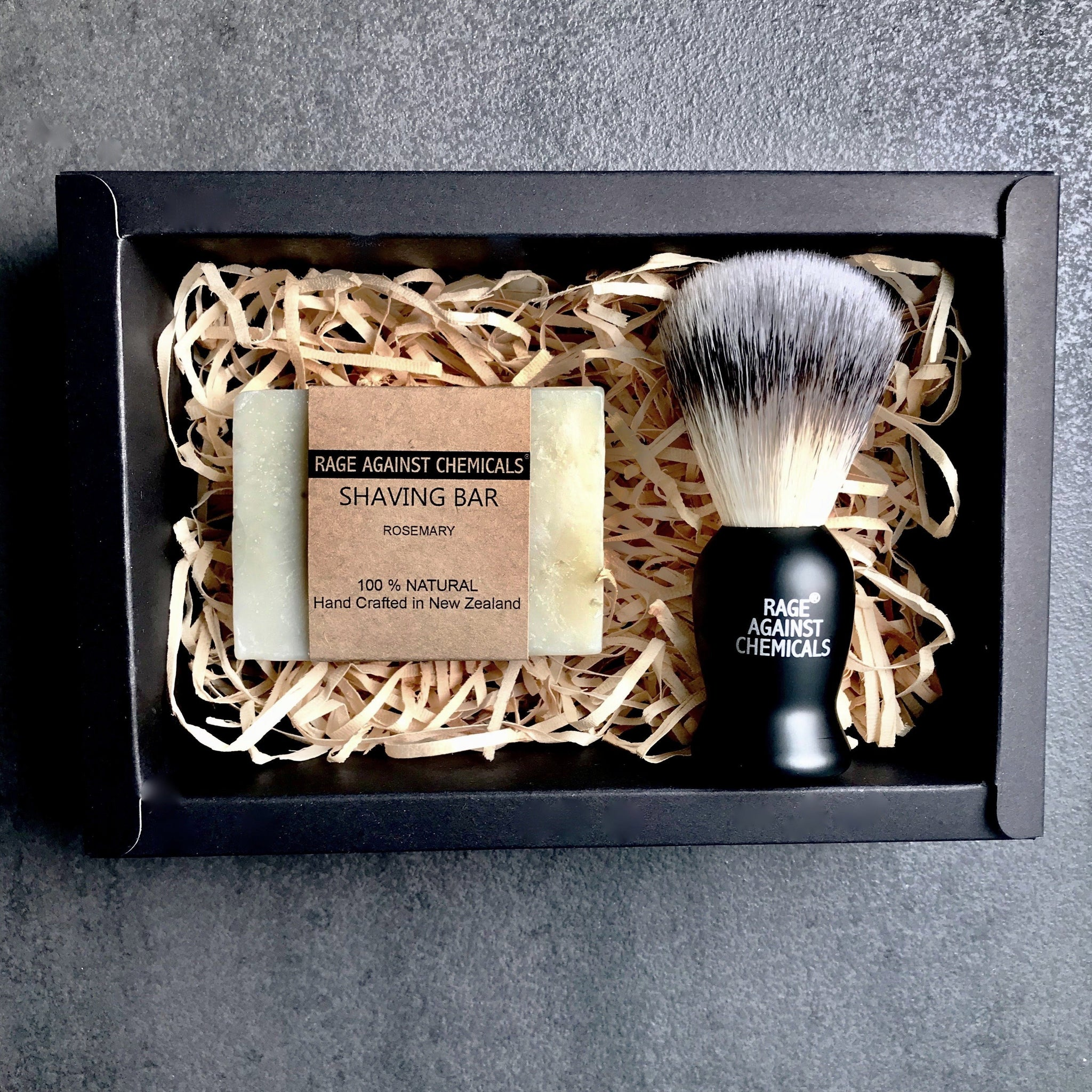 Shaving Brush & Bar Gift Set  - Rage Against Chemicals - Certified Organic Skincare