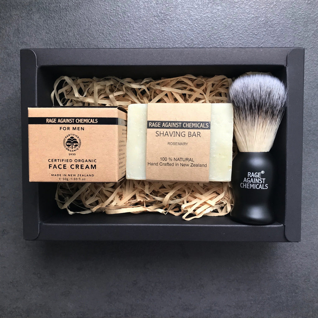 Shaving Brush, Bar & Face Cream Gift Set