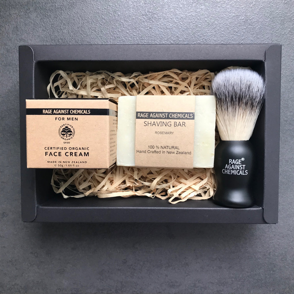 Shaving Brush, Bar & Face Cream Kit