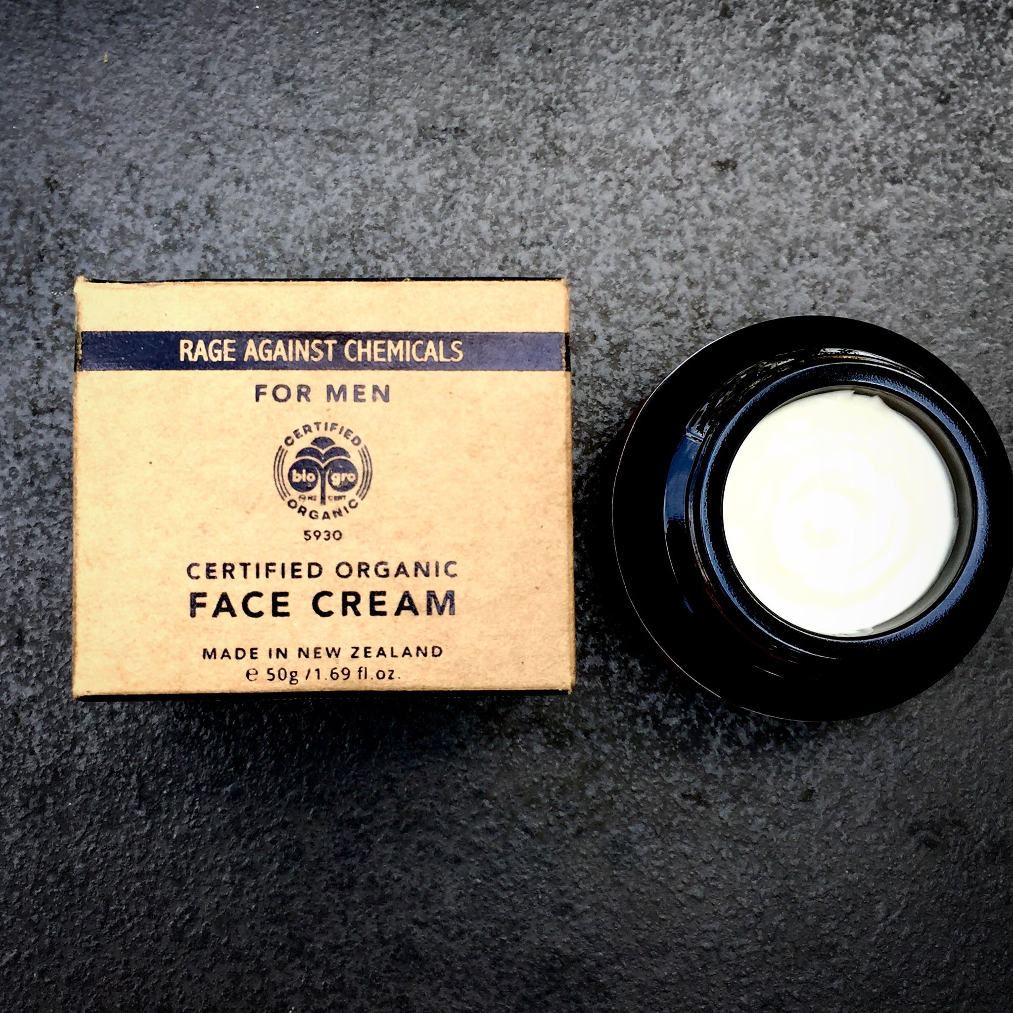 Face Cream for Men - Organic Moisturiser - Rage Against Chemicals - International Award Winning