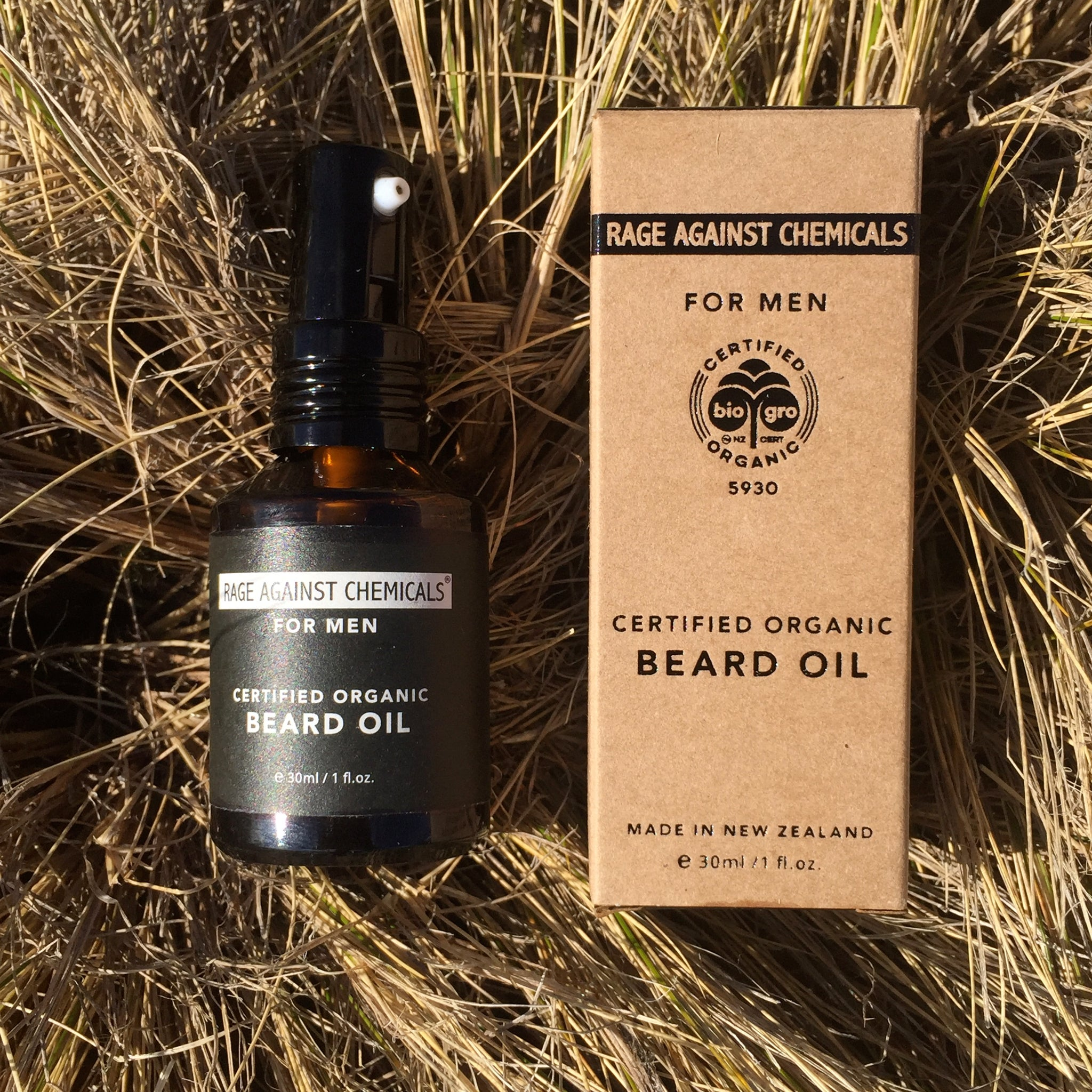 Beard Oil - Organic - Rage Against Chemicals - Condition your Beard and prevent itchy, flaky skin beneath your Beard.