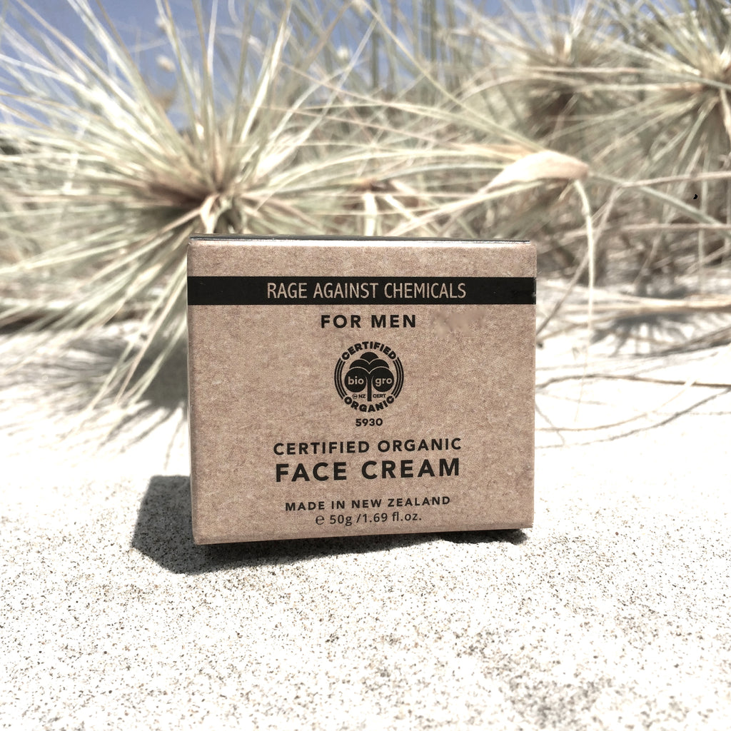 Face Cream for Men - Gift - Certified Organic Moisturiser 50g