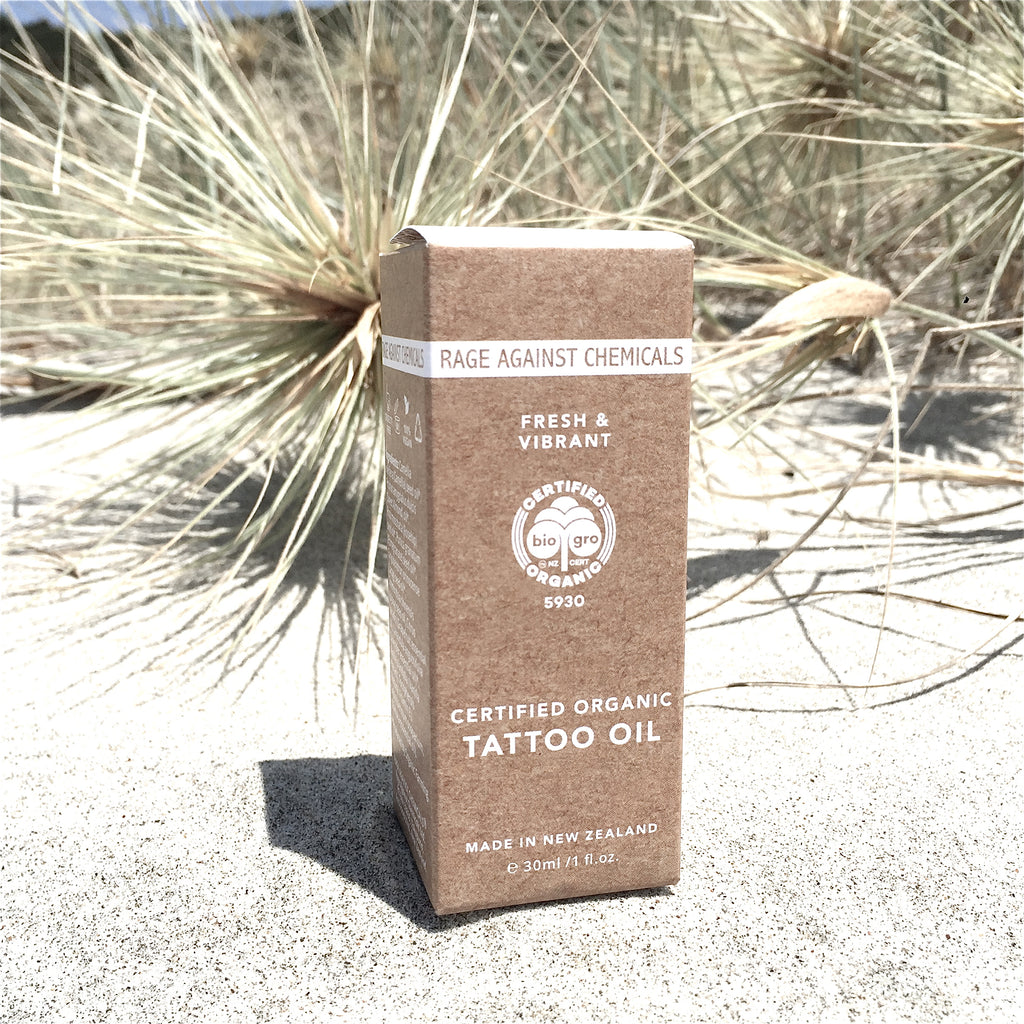 Tattoo Oil  for Women - Certified Organic - Fresh & Vibrant 30ml