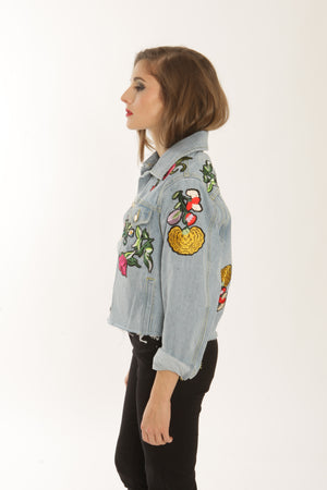 Veste en jean Full Bloom