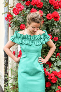 Robe cocktail verte vintage - T.36/38