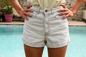 Short en jean clair American Apparel - T.26/27