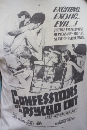 "T-Shirt affiche du film ""Confessions of a psycho cat"" - T.M"