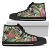 Funky Patterns (Rainbow) - Women's High Top Shoes (Black)