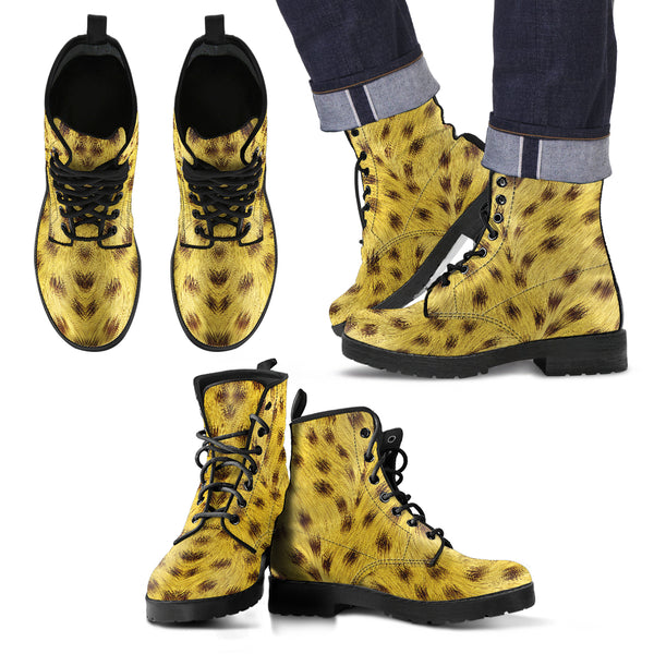 Cheetah Fur - Leather Boots for Men