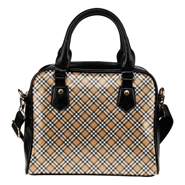 Scotland Gold Tartan - Boston Handbag