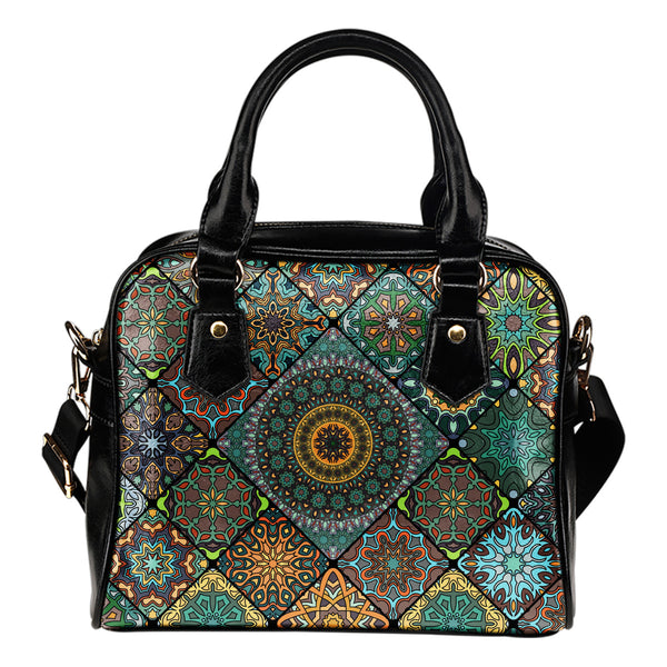 Diamond Mandala P8 - Boston Handbag