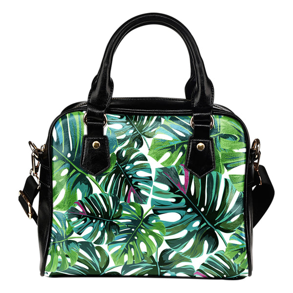 Tropical Leaf - Boston Handbag