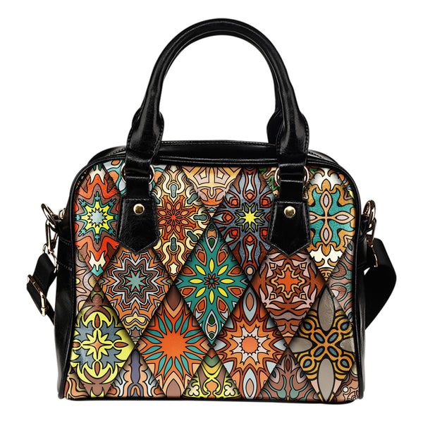 Diamond Mandala P1 - Boston  Handbag