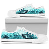 Ocean Waves - Men's Low Top Shoes (White)