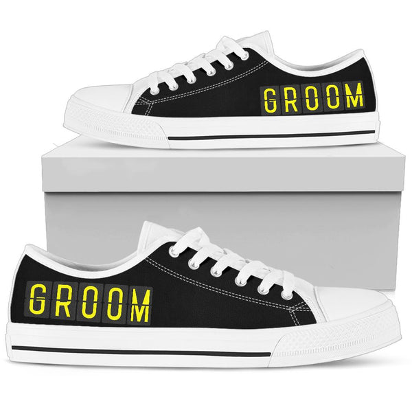 Airport Destinations GROOM - Low Top Canvas Shoes